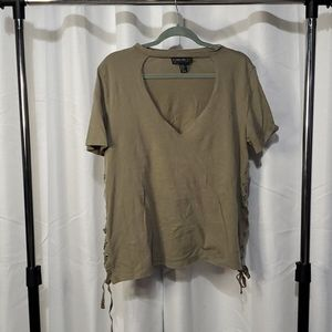 Forever 21 plus cutout shirt